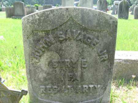 SAVAGE,JR., JOHN - Burlington County, New Jersey   JOHN SAVAGE,JR. - New Jersey Gravestone Photos