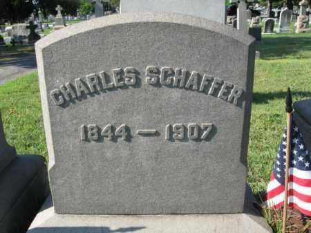 SCHAFFER, CHARLES - Burlington County, New Jersey   CHARLES SCHAFFER - New Jersey Gravestone Photos