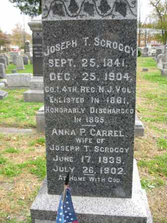 SCROGGY, JOSEPH T. - Burlington County, New Jersey   JOSEPH T. SCROGGY - New Jersey Gravestone Photos