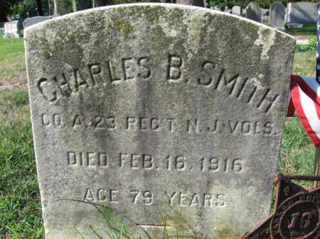 SMITH, CHARLES B. - Burlington County, New Jersey | CHARLES B. SMITH - New Jersey Gravestone Photos
