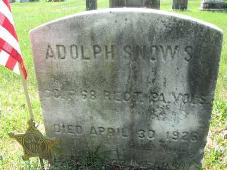 SNOW,SR., ADOLPH - Burlington County, New Jersey | ADOLPH SNOW,SR. - New Jersey Gravestone Photos