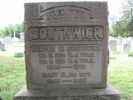 SOUTHWICK, GEORGE W. - Burlington County, New Jersey | GEORGE W. SOUTHWICK - New Jersey Gravestone Photos