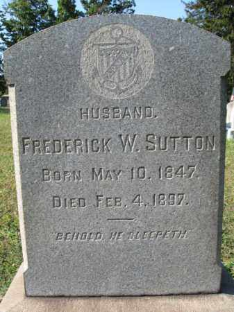 SUTTON, FREDERICK W. - Burlington County, New Jersey   FREDERICK W. SUTTON - New Jersey Gravestone Photos