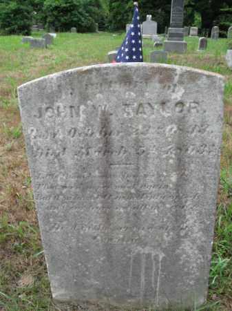 TAYLOR, CORP.JOHN W. - Burlington County, New Jersey | CORP.JOHN W. TAYLOR - New Jersey Gravestone Photos