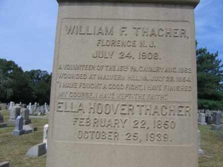 THACHER, CORP.WILLIAM F. - Burlington County, New Jersey | CORP.WILLIAM F. THACHER - New Jersey Gravestone Photos