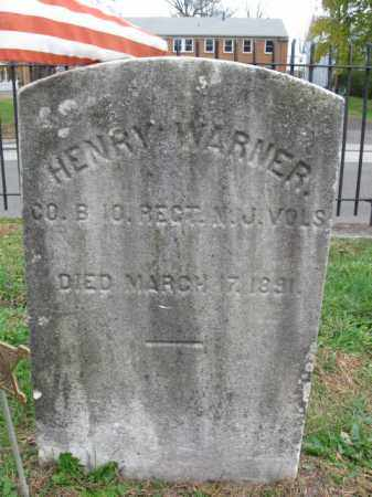 WARNER, HENRY - Burlington County, New Jersey | HENRY WARNER - New Jersey Gravestone Photos