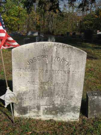WORTH, JOSEPH - Burlington County, New Jersey | JOSEPH WORTH - New Jersey Gravestone Photos