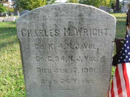 WRIGHT, CHARLES M. - Burlington County, New Jersey | CHARLES M. WRIGHT - New Jersey Gravestone Photos