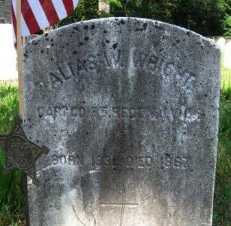 WRIGHT, ELIAS W. (G) - Burlington County, New Jersey | ELIAS W. (G) WRIGHT - New Jersey Gravestone Photos