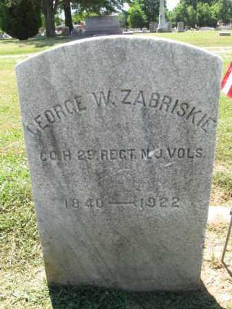 ZABRISKIE, GEORGE W. - Burlington County, New Jersey   GEORGE W. ZABRISKIE - New Jersey Gravestone Photos