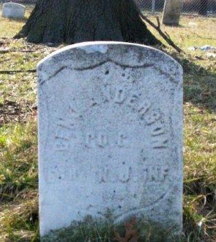 ANDERSON, BENJAMIN - Camden County, New Jersey | BENJAMIN ANDERSON - New Jersey Gravestone Photos