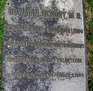 HENDRY, BOWMAN - Camden County, New Jersey   BOWMAN HENDRY - New Jersey Gravestone Photos