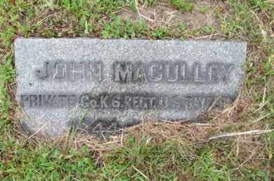MACULLEY (MCCULLY), JOHN - Camden County, New Jersey   JOHN MACULLEY (MCCULLY) - New Jersey Gravestone Photos