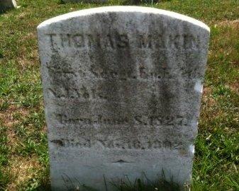 MAKIN, THOMAS - Camden County, New Jersey | THOMAS MAKIN - New Jersey Gravestone Photos