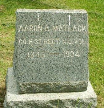 MATLACK, AARON A. - Camden County, New Jersey | AARON A. MATLACK - New Jersey Gravestone Photos