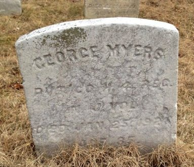 MYERS (MEYERS), GEORGE - Camden County, New Jersey | GEORGE MYERS (MEYERS) - New Jersey Gravestone Photos