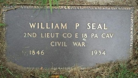 SEAL, WILLIAM P. - Camden County, New Jersey | WILLIAM P. SEAL - New Jersey Gravestone Photos