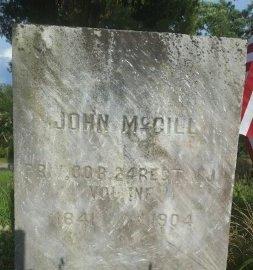 MCGILL, JOHN - Cumberland County, New Jersey | JOHN MCGILL - New Jersey Gravestone Photos