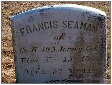 SEAMAN, FRANCIS - Cumberland County, New Jersey | FRANCIS SEAMAN - New Jersey Gravestone Photos