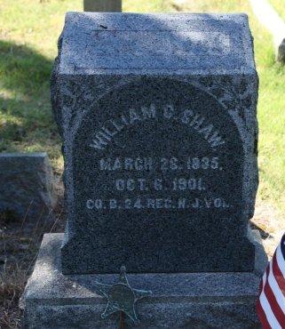 SHAW, WILLIAM C. - Cumberland County, New Jersey   WILLIAM C. SHAW - New Jersey Gravestone Photos
