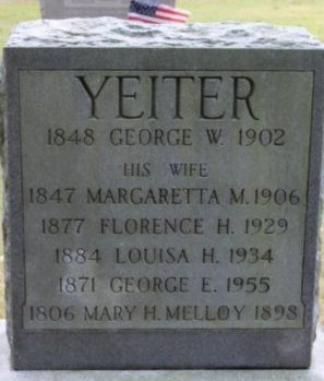 YETTER, GEORGE W. - Cumberland County, New Jersey | GEORGE W. YETTER - New Jersey Gravestone Photos