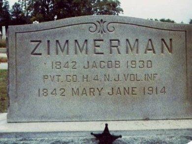 ZIMMERMAN, JACOB - Cumberland County, New Jersey   JACOB ZIMMERMAN - New Jersey Gravestone Photos