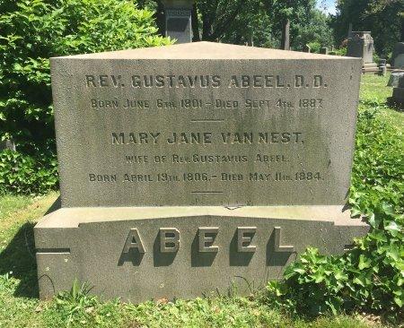 ABEEL, GUSTAVUS N. - Essex County, New Jersey | GUSTAVUS N. ABEEL - New Jersey Gravestone Photos
