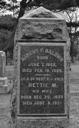 BALDWIN, MARCUS F. - Essex County, New Jersey | MARCUS F. BALDWIN - New Jersey Gravestone Photos