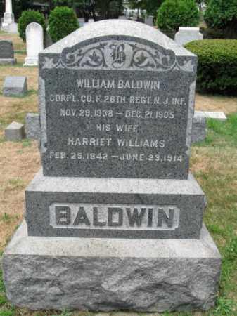 BALDWIN, WILLIAM M. - Essex County, New Jersey | WILLIAM M. BALDWIN - New Jersey Gravestone Photos