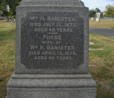 BANISTER (BANNISTER), WILLIAM H. - Essex County, New Jersey | WILLIAM H. BANISTER (BANNISTER) - New Jersey Gravestone Photos