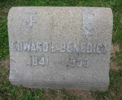 BENEDICT, EDWARD  E. - Essex County, New Jersey | EDWARD  E. BENEDICT - New Jersey Gravestone Photos