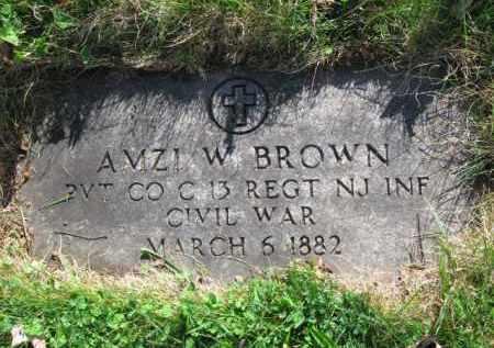 BROWN, AMZI W. - Essex County, New Jersey   AMZI W. BROWN - New Jersey Gravestone Photos