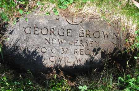 BROWN, GEORGE - Essex County, New Jersey | GEORGE BROWN - New Jersey Gravestone Photos