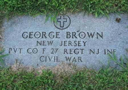 BROWN, GEORGE - Essex County, New Jersey   GEORGE BROWN - New Jersey Gravestone Photos