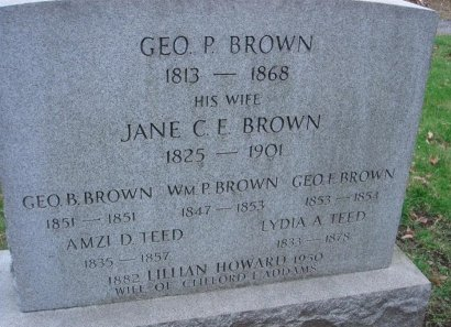 BROWN, GEORGE P. - Essex County, New Jersey | GEORGE P. BROWN - New Jersey Gravestone Photos