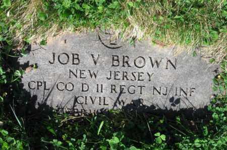 BROWN, JOB V. - Essex County, New Jersey | JOB V. BROWN - New Jersey Gravestone Photos