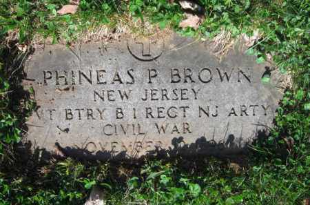 BROWN, PHINEAS P. - Essex County, New Jersey | PHINEAS P. BROWN - New Jersey Gravestone Photos