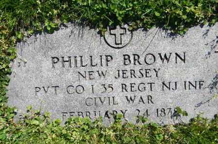 BROWN, PHILIP - Essex County, New Jersey | PHILIP BROWN - New Jersey Gravestone Photos