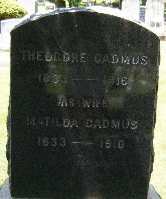 CADMUS, THEODORE - Essex County, New Jersey | THEODORE CADMUS - New Jersey Gravestone Photos