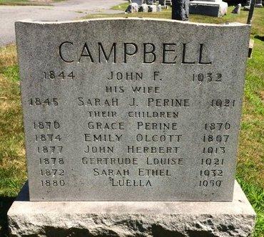 CAMPBELL, JOHN F. - Essex County, New Jersey   JOHN F. CAMPBELL - New Jersey Gravestone Photos