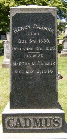 CADMUS, HENRY - Essex County, New Jersey   HENRY CADMUS - New Jersey Gravestone Photos
