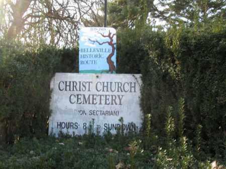 CEMETERY SIGN, CHRIST CHURCH - Essex County, New Jersey   CHRIST CHURCH CEMETERY SIGN - New Jersey Gravestone Photos