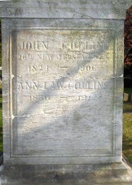 COLLINS, JOHN - Essex County, New Jersey | JOHN COLLINS - New Jersey Gravestone Photos