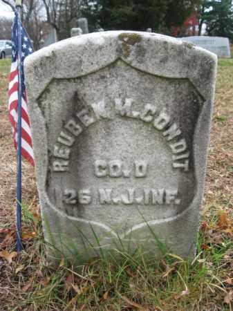 CONDIT, REUBEN M. - Essex County, New Jersey   REUBEN M. CONDIT - New Jersey Gravestone Photos