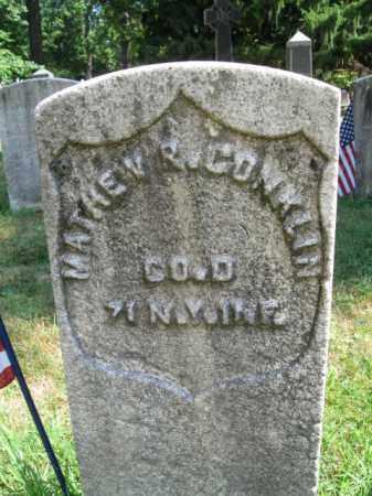 CONKLIN, MATHEW R. - Essex County, New Jersey   MATHEW R. CONKLIN - New Jersey Gravestone Photos