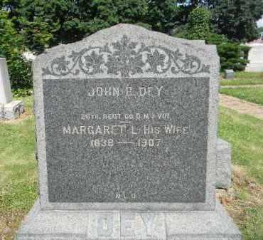 DEY, JOHN B. - Essex County, New Jersey | JOHN B. DEY - New Jersey Gravestone Photos