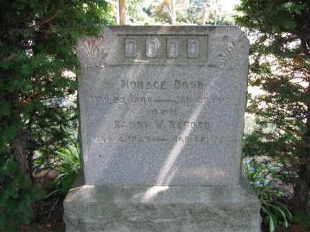 DODD, HORACE - Essex County, New Jersey   HORACE DODD - New Jersey Gravestone Photos