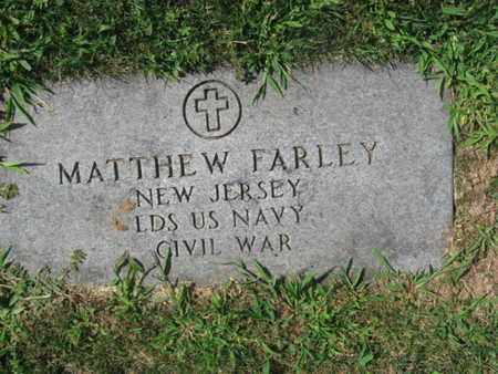 FARLEY, MATTHEW - Essex County, New Jersey | MATTHEW FARLEY - New Jersey Gravestone Photos