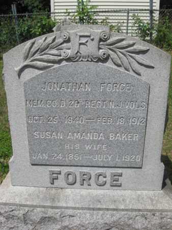 FORCE, JONATHAN - Essex County, New Jersey | JONATHAN FORCE - New Jersey Gravestone Photos