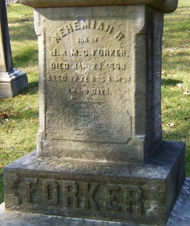 FORKER, NEHEMIAH B. - Essex County, New Jersey | NEHEMIAH B. FORKER - New Jersey Gravestone Photos